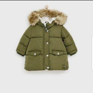 ♡zara baby girl puffy jacket♡